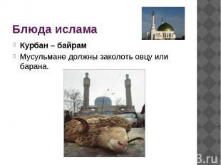 Блюда ислама