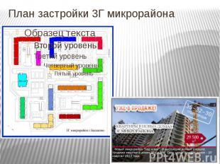 План застройки 3Г микрорайона