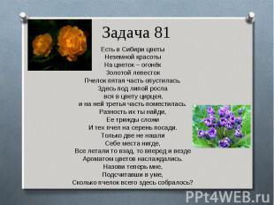 Есть в Сибири цветы Есть в Сибири цветы Неземной красоты На цветок – огонёк Золо