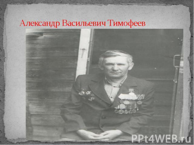 Александр Васильевич Тимофеев