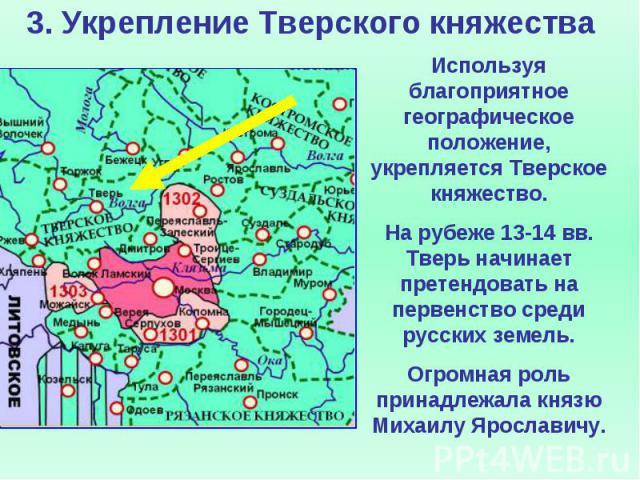 3. Укрепление Тверского княжества