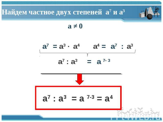 a ≠ 0 a ≠ 0