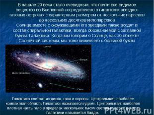 В начале 20 века стало очевидным, что почти все видимое вещество во Вселенной со