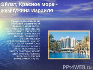 Эйлат, Красное море - жемчужина Израиля Природа вылепила на северной оконечности
