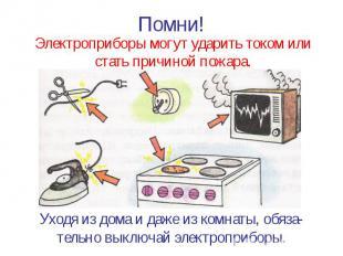 Помни! Электроприборы могут ударить током или стать причиной пожара.