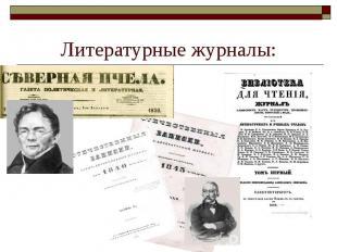Литературные журналы: