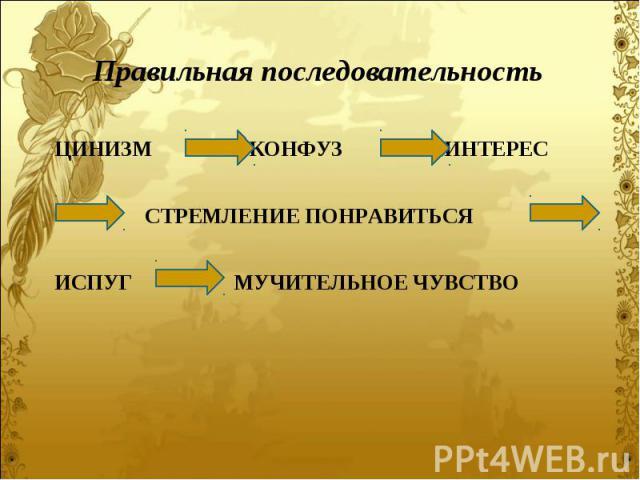 Правильная последовательность Правильная последовательность
