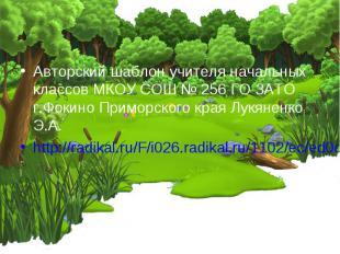 Авторский шаблон учителя начальных классов МКОУ СОШ № 256 ГО ЗАТО г.Фокино Примо