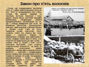 Голод, що поширювався протягом 1932 p., набув найстрашнішої сили на поч. 1933 р.