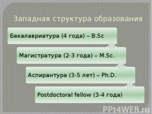 Западная структура образования