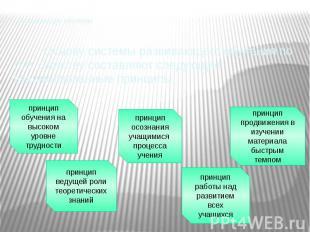Развивающее обучение Основу системы развивающего обучения по Л.В. Занкову состав