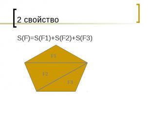2 свойство S(F)=S(F1)+S(F2)+S(F3)