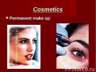Cosmetics Permanent make up