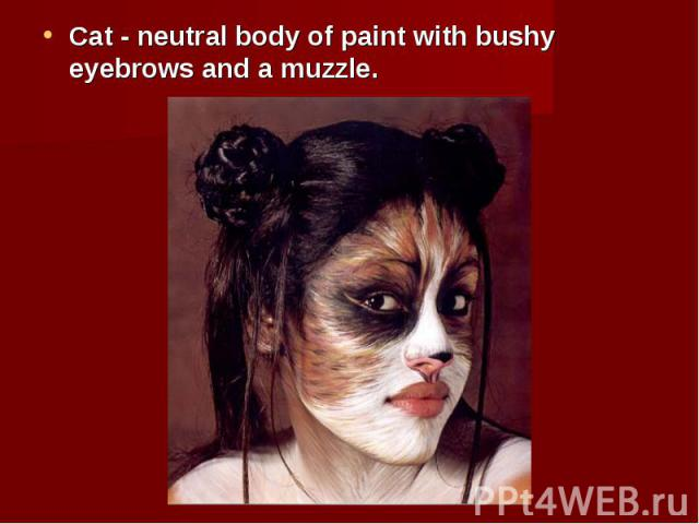 Cat - neutral body of paint with bushy eyebrows and a muzzle. Cat - neutral body of paint with bushy eyebrows and a muzzle.