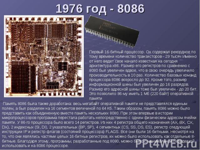 1976 год - 8086