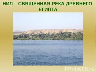 Нил – священная река древнего египта.