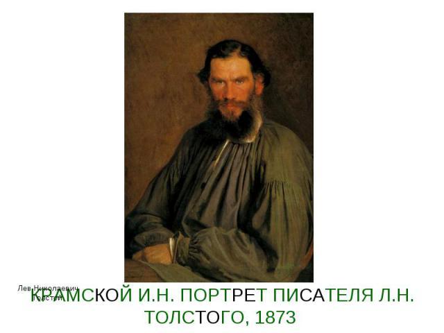 КРАМСКОЙ И.Н. ПОРТРЕТ ПИСАТЕЛЯ Л.Н. ТОЛСТОГО, 1873