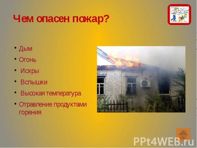 Чем опасен пожар? Чем опасен пожар?