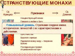СТРАНСТВУЮЩИЕ МОНАХИ