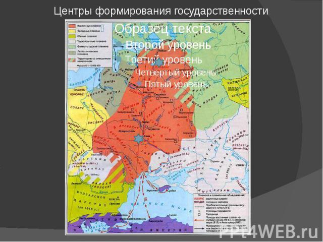 Центры формирования государственности