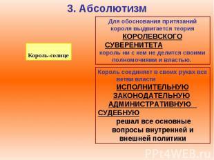 3. Абсолютизм