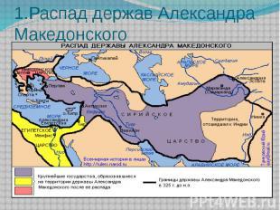 1.Распад держав Александра Македонского