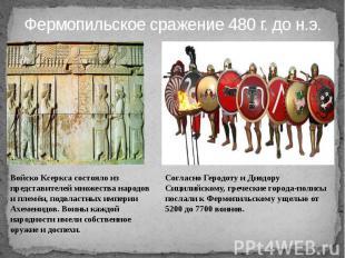 Фермопильское сражение 480 г. до н.э.