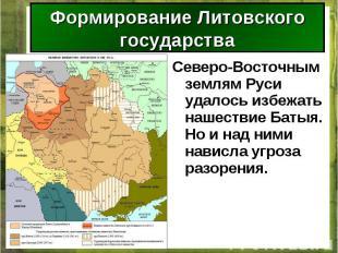 Северо-Восточным землям Руси удалось избежать нашествие Батыя. Но и над ними нав