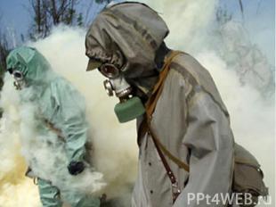 Химическое воздействие вызывает отравление и ожоги организмов, заражение суши, в