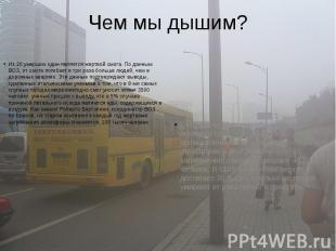 Чем мы дышим? Из 20 умерших один является жертвой смога. По данным ВОЗ, от смога