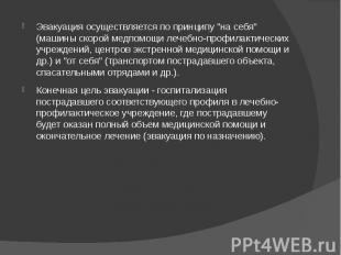 """Эвакуация осуществляется по принципу """"на себя"""" (машины скорой медпомощ"""