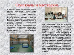 В школе к таким помещениям можно отнести спортивные залы, полы которых в большин