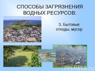3. Бытовые отходы, мусор