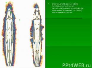 Электромагни тное излуче ние (электромагнитные волны)— распространяющееся
