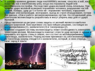 В далекие времена древние люди поклонялись молнии, относясь к ней, как к божеств