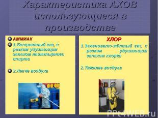 Характеристика АХОВ использующиеся в производстве АММИАК 1.Бесцветный газ, с рез