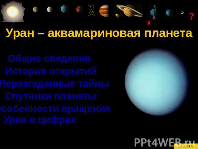 Уран – аквамариновая планета