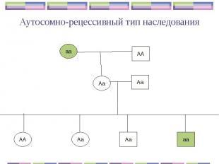 Аутосомно-рецессивный тип наследования