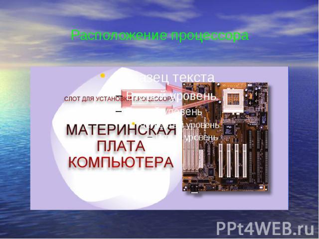 Расположение процессора