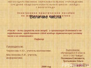 """Выполнили: обучающиеся 8 класса НОУ СОШ """"Вайда"""" Полякова Елизавета, Третьякова О"""