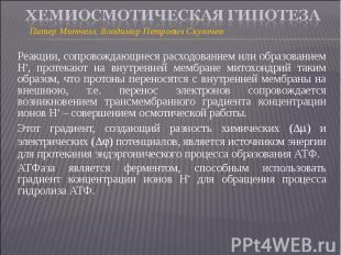 Питер Митчелл, Владимир Петрович Скулачев Питер Митчелл, Владимир Петрович Скула