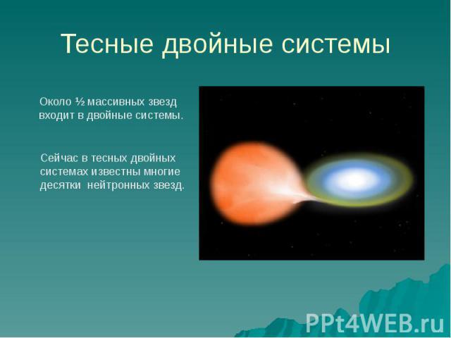 Тесные двойные системы
