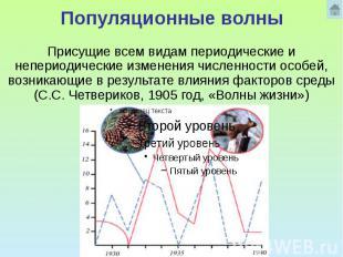Популяционные волны Присущие всем видам периодические и непериодические изменени