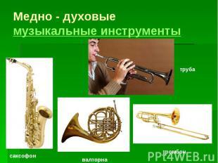 Медно - духовые музыкальные инструменты