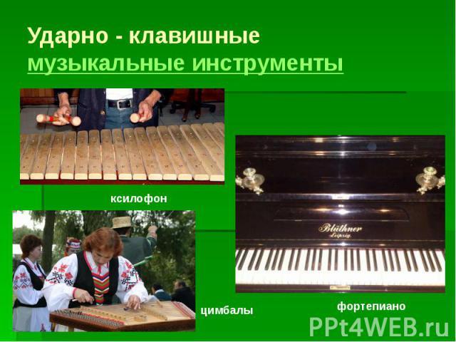 Ударно - клавишные музыкальные инструменты