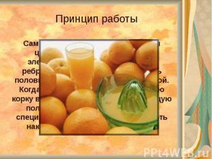 Самая простая соковыжималка для цитрусовых. Принцип работы элементарный: на вращ