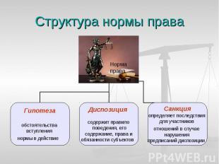 Структура нормы права