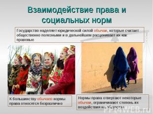 Взаимодействие права и социальных норм