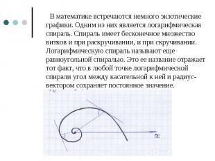 В математике встречаются немного экзотические графики. Одним из них является лог