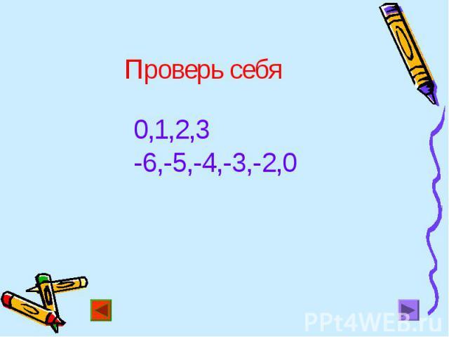 0,1,2,3 0,1,2,3 -6,-5,-4,-3,-2,0
